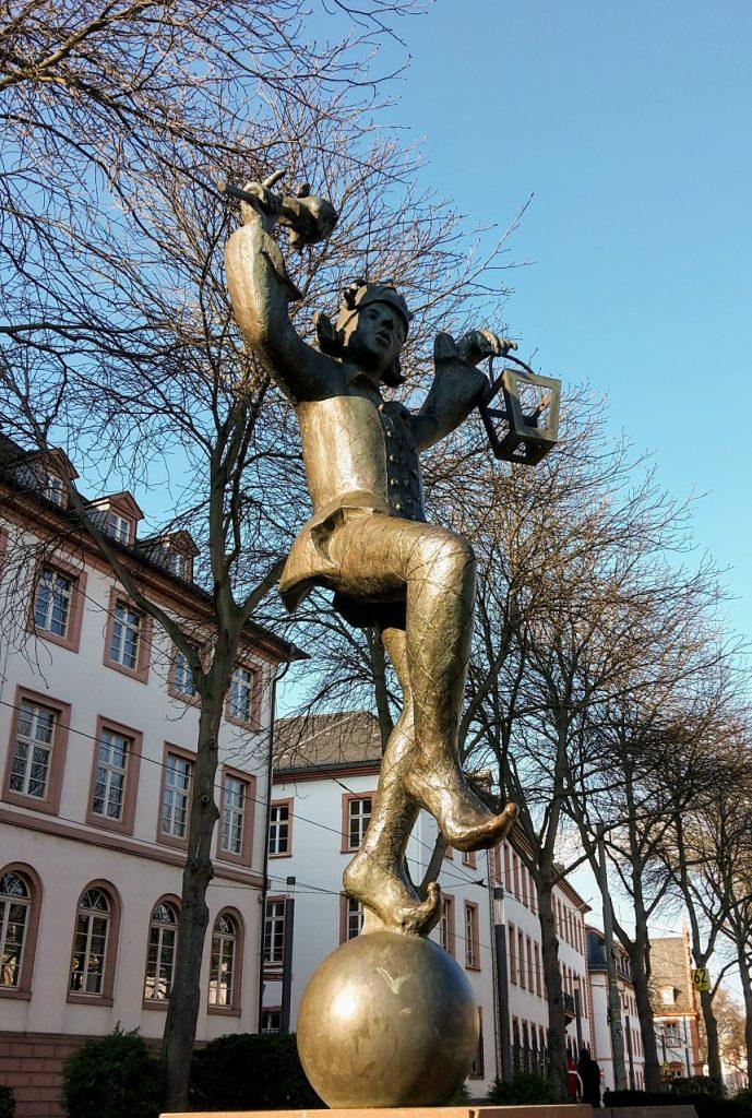 Sehenswürdigkeit in Mainz während Geocaching-Tour